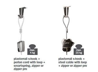 STAS plasterrail hooks and cords