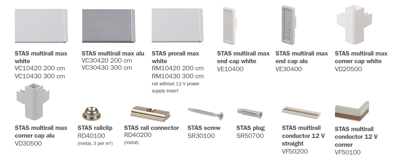 STAS multirail max parts
