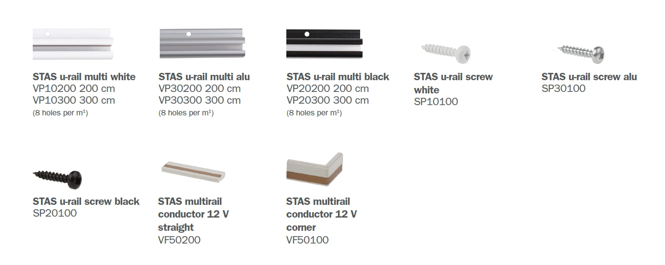 STAS u-rail multi parts